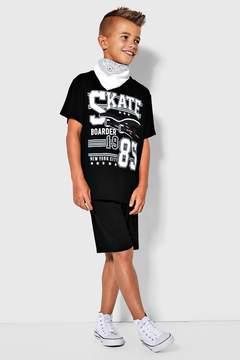 boohoo Boys Skate Tee & Jersey Short Set