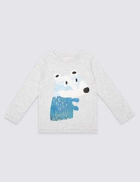 Marks and Spencer Cotton Rich Long Sleeve Top (3 Months - 5 Years)