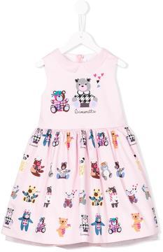 Simonetta teddy bear print dress