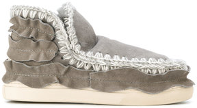 Mou ruched detail slip-on sneakers