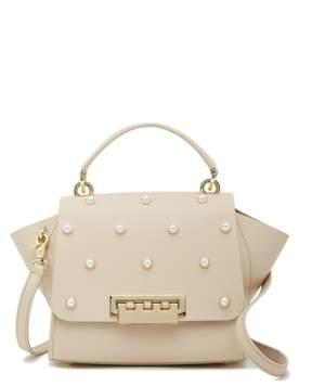Zac Posen Eartha Iconic Faux Pearl Top Handle Leather Crossbody Bag