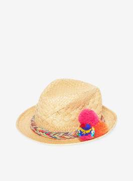 Dorothy Perkins Coloured Pom Trilby Hat