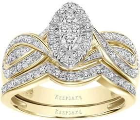 Keepsake Commitment 1/3 Carat T.W. Diamond 10kt Yellow Gold Bridal Set