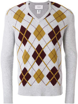 Pringle V-neck argyle jumper