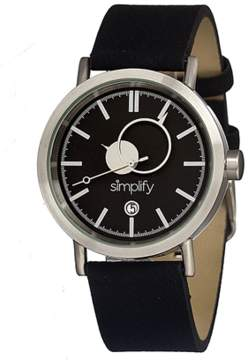 Simplify The 600 Leather-band Watch.