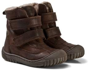 Bisgaard Brown Velcro Boots