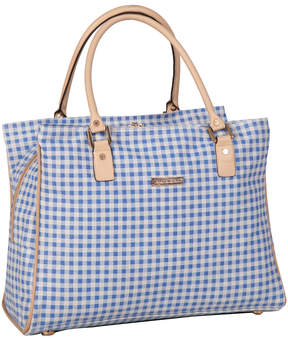 Isaac Mizrahi Blue Gingham Greenwich Deluxe Tote