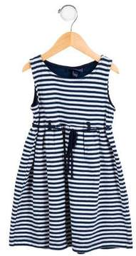 Papo d'Anjo Girls' Striped A-Line Dress