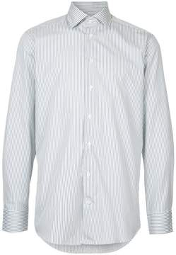 Hardy Amies long-sleeved striped shirt
