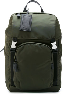 Prada double buckle backpack