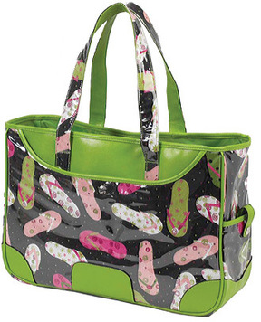 Picnic at Ascot Large Beach Tote