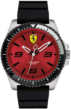 Ferrari Men's Xx Kers Black Silicone Strap Watch 44mm