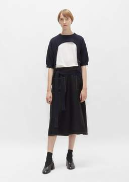 Sara Lanzi Viscose Crepe Skirt Black