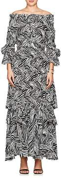 Faith Connexion Women's thedrop@barneys: Zebra-Print Crepe Maxi Dress