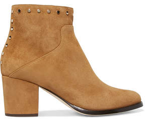 Jimmy Choo Melvin 65 Studded Suede Ankle Boots - Tan