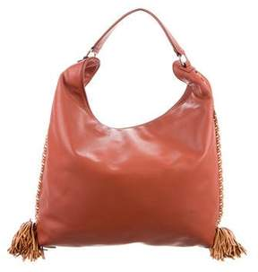 Rebecca Minkoff Leather Whipstitch Hobo - BROWN - STYLE