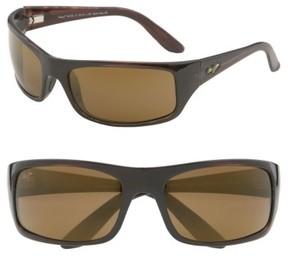 Maui Jim Men's 'Peahi - Polarizedplus2' 67Mm Sunglasses - Tortoise / Hcl Bronze Lens