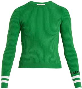 Valentino Crew-neck ribbed-knit sweater