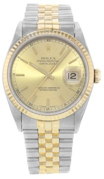 Rolex Datejust 16233 18K Yellow Gold & Stainless Steel Automatic 36mm Mens Watch
