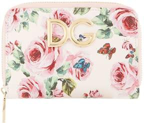 Dolce & Gabbana Floral Print Zip-Around Purse - MULTI - STYLE