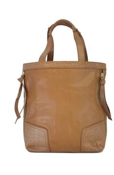 Foley + Corinna Tan Reptile Leather Oversized Tote