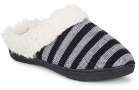 totes Stripe Knit Slippers