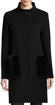 Cinzia Rocca Stand Collar Fur Coat