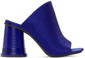 Maison Margiela Blue Satin Cup To Go Sandals