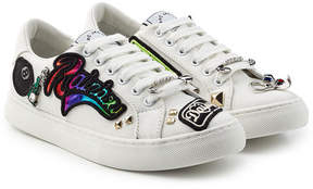 Marc Jacobs Canvas Sneakers with Patches and Embellishments