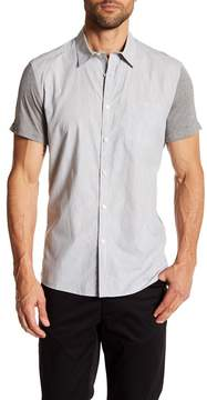 Kenneth Cole New York Short Sleeve Jersey Contrast Regular Fit Shirt