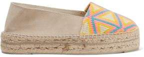 Manebi Woven Canvas And Suede Espadrilles