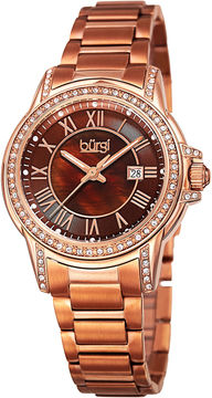 Burgi Unisex Rose Goldtone Bracelet Watch-B-168rgbr