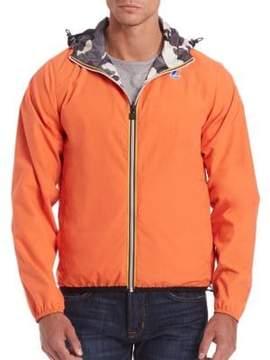 K-Way Modern Jacques Reversible Hooded Zip Jacket