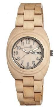 Earth Hilum Khaki Tan Wood Unisex Watch