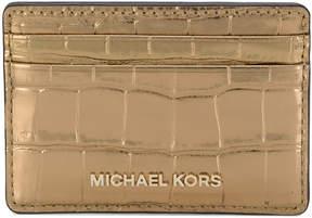 MICHAEL Michael Kors Jet Set Travel metallic cardholder - METALLIC - STYLE