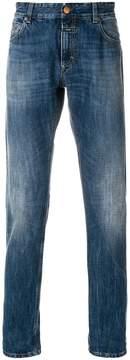 Closed straight leg jeans