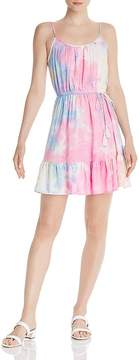 AQUA Flounced Tie-Dye Dress – 100% Exclusive