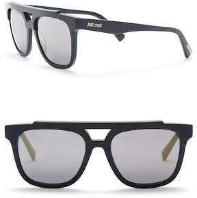 Just Cavalli Aviator 56mm Plastic Sunglasses