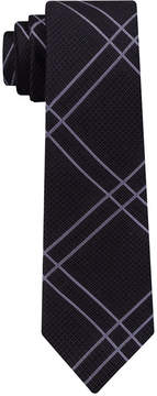 DKNY Men's Linear Plaid Slim Silk Tie