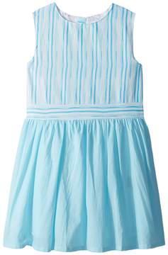 Toobydoo Aqua Blue Garden Party Dress Girl's Dress