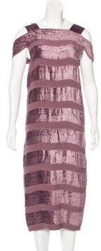 Bottega Veneta Drop Waist Velvet Dress