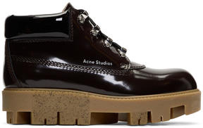 Acne Studios Brown Tinne Brush Off Boots