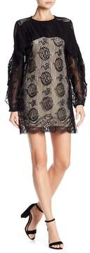 Elliatt Mythic Lace Pleated Ruffle Dress