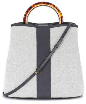 Marni Pannier canvas and leather tote