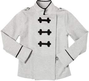 Karl Lagerfeld Viscose Blend Interlock Jacket