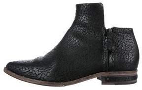 Freda Salvador Embossed Leather Booties