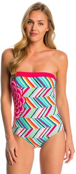 Coco Rave Summer Patch Ariana Bandeau One Piece Swimsuit 8144635