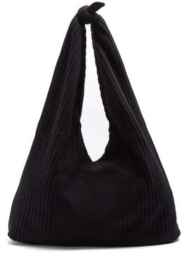 The Row Bindle ribbed-knit shoulder bag