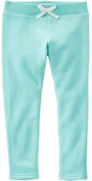 Osh Kosh Girls 4-8 Solid Ribbed Waist Skinny Pants