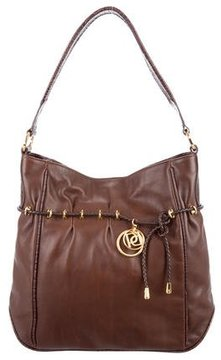 Ports 1961 Embossed Leather-Trimmed Drawstring Bag